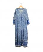 blue boheme(ブルーボヘム)の古着「フラワープリントワンピース」|ブルー