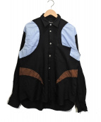 COMME des GARCONS HommePlus(コムデギャルソンオムプリュス)の古着「デザインシャツ」 ブラック