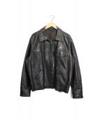 agnes b homme(アニエスベーオム)の古着「レザージャケット」|ブラック