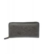 KITAMURA(キタムラ)の古着「型押し長財布」|ブラック