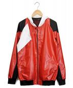 yoshio kubo(ヨシオクボ)の古着「フーデッドジャケット」|レッド