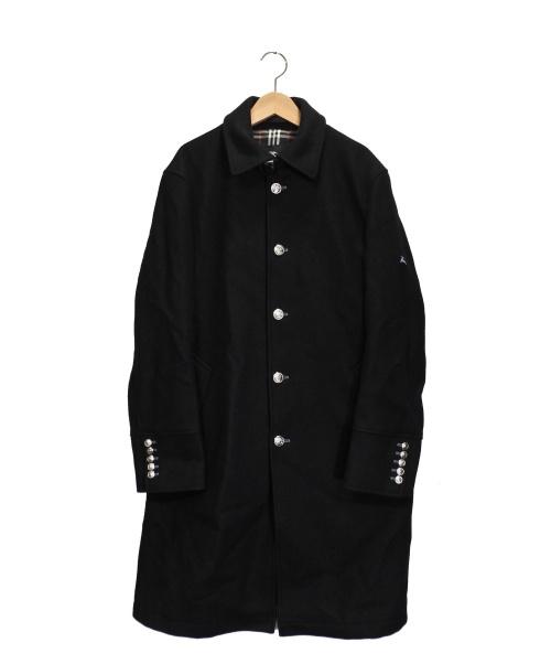 BURBERRY BLACK LABEL(バーバリーブラックレーベル)BURBERRY BLACK LABEL (バーバリーブラックレーベル) カシミヤ混コート ブラック サイズ:Lの古着・服飾アイテム