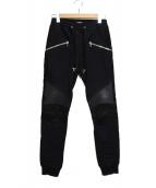 BALMAIN(バルマン)の古着「biker skinny track trousers」|ブラック
