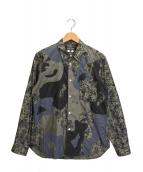 COMME des GARCONS HOMME DEUX(コムデギャルソン オム ドゥ)の古着「カモパッチワークシャツ」|グレー
