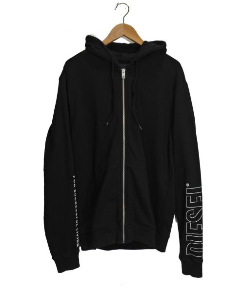 DIESEL(ディーゼル)DIESEL (ディーゼル) ジップパーカー ブラック サイズ:XLの古着・服飾アイテム