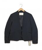 qualite(カリテ)の古着「ノーカラージャケット」|ネイビー