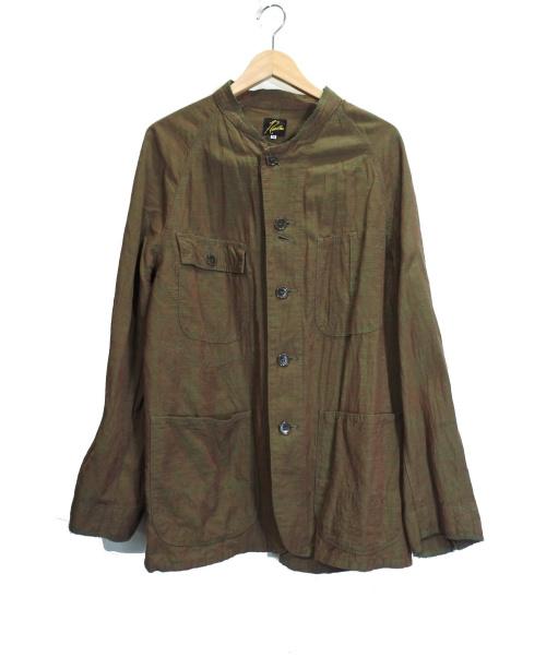 Needles(ニードルス)Needles (ニードルス) スタンドカラーカバーオール ブラウン サイズ:Mの古着・服飾アイテム