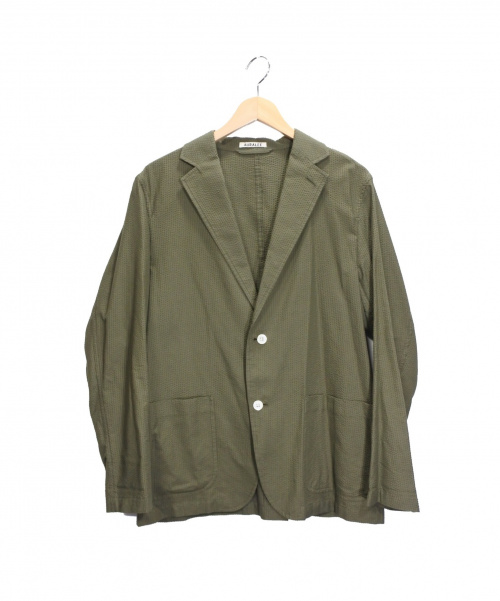 AURALEE(オーラリー)AURALEE (オーラリー) SILK SEERSUCKER JACKET グリーン サイズ:4の古着・服飾アイテム