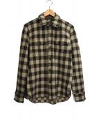 RRL(ダブルアールエル)の古着「バッファローチェックニットシャツ」|ブラウン