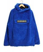 NAPAPIJRI(ナパピリ)の古着「ボアプルオーバーパーカー」|ブルー