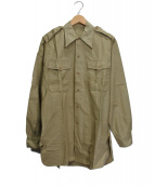 FRENCH ARMY(フレンチアーミー)の古着「【古着】OFFICER SHIRTS」|ベージュ