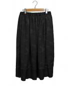 BLACK COMME des GARCONS(ブラックコムデギャルソン)の古着「カモフラ/ピンスト切替スカート」|ブラック