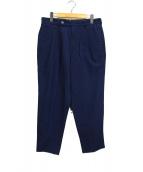 GAIJIN MADE(ガイジンメイド)の古着「インディゴタックパンツ」|ブルー