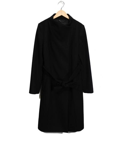UNTITLED(アンタイトル)UNTITLED (アンタイトル) スタンドカラーコート ブラック サイズ:2の古着・服飾アイテム