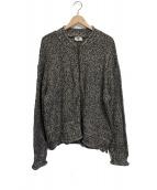 DRIES VAN NOTEN(ドリスヴァンノッテン)の古着「【古着】ニットジャケット」|ブラック