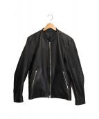 LIDnM(リドム)の古着「シングルレザージャケット」 ブラック