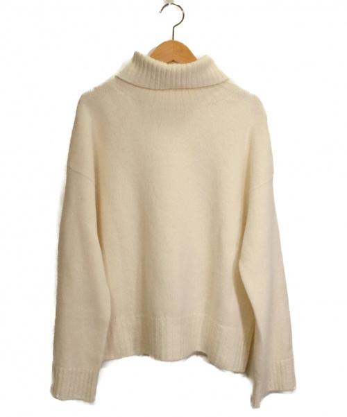 Whim Gazette(ウィムガゼット)Whim Gazette (ウィムガゼット) タートルネックニット ホワイト サイズ:Fの古着・服飾アイテム