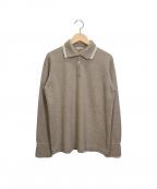 MALO(マーロ)の古着「カシミヤニットポロシャツ」|ブラウン