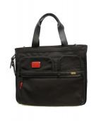 TUMI(トゥミ)の古着「ALPHA 3 エキスパンダブル トートバッグ」|ブラック×レッド(カスタムカラー)