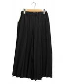 me ISSEY MIYAKE(ミーイッセイミヤケ)の古着「プリーツワイドパンツ」 ブラック