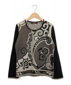 LEONARD(レオナール)の古着「ラインストーン装飾カットソー」|グレー
