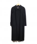 Burberrys()の古着「カシミヤ混ステンカラーコート」|ブラック
