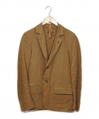 FRANK LEDER(フランクリーダー)の古着「リネンジャケット」 ブラウン
