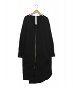 GARAGE OF GOOD CLOTHING(ガレージオブグッドクロージング)の古着「スウェットロングカーディガン」|ブラック
