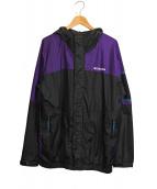 Columbia×BEAMS(コロンビア×ビームス)の古着「パブロ フロードジャケット」|ブラック×パープル