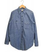 ANATOMICA(アナトミカ)の古着「シャンブレーワークシャツ」|ブルー
