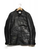 GANGSTERVILLE(ギャングスタビル)の古着「-30S CAR - COAT HORSE HIDE」 ブラック