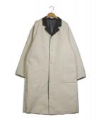 SUNSEA(サンシー)の古着「リバーシブル帆布コート」|アイボリー