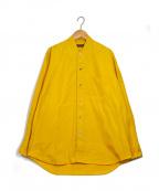 COMME des GARCONS HommePlus(コムデギャルソン オムプリュス)の古着「ノーカラーシャツ」|イエロー