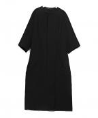 Y's(ワイズ)の古着「ノーカラーコート」|ブラック