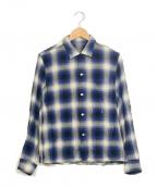 n(n) by NUMBER (N)INE(エヌエヌバイナンバーナイン)の古着「オンブレチェックシャツ」 ブルー