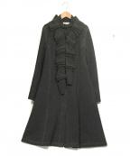 HIROKO KOSHINO(ヒロコ コシノ)の古着「スタンドカラーコート」|グレー