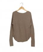 L'Appartment DEUXIEME CLASSE()の古着「Thermal Inner Knit ニット」 ベージュ