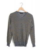 UNDERCOVER(アンダーカバー)の古着「フロッキープリントニット」|グレー