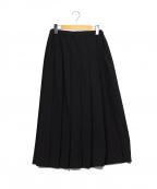 ROBE DE CHAMBRE COMME DES GARCONS(ローブドシャンブル コムデギャルソン)の古着「タックプリーツスカート」|ブラック