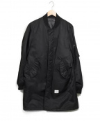 DENIM BY VANQUISH&FRAGMENT(デニムバイヴァンキッシュ&フラグメント)の古着「MA-1ロングコート」|ブラック