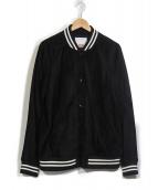 Supreme(シュプリーム)の古着「17SS Suede Varsity Jacket」|ブラック