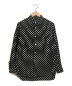 GOOD DESIGN SHOP COMME des GAR(グッドデザインショップコムデギャルソン)の古着「ドット柄シャツ」 ブラック×ホワイト