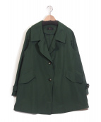 LEQUIPE(レキップ)の古着「コットンタフタシャンブレーコート」|グリーン