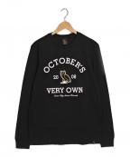 OCTOBERS VERY OWN(オクトーバーズ ベリー オウン)の古着「プリントカットソー」 ブラック