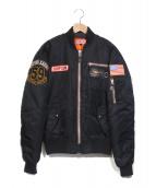 SIMPSON(シンプソン)の古着「MA-1ジャケット」|ブラック