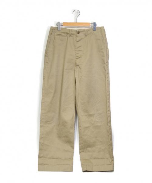 orSlow(オアスロウ)orSlow (オアスロウ) ヴィンテージフィットアーミートラウザー ベージュ サイズ:M チノパンの古着・服飾アイテム