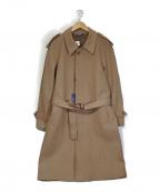 Fraizzoli(フライツォーリ)の古着「エポレット付きウールコート」|キャメル