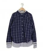 bodysong.(ボディソング)の古着「デザインシャツ」|ネイビー