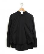 sacai()の古着「バックレースアップロングスリーブシャツ」 ブラック