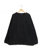 WILD THINGS()の古着「プルオーバーフリースジャケット」|ブラック